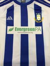 Football shirt sponsor & embroidery